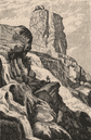 Augrabies Falls National Park, Orange River, South Africa 1885 old print
